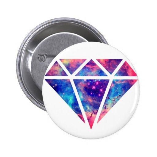 Diamond Nebula Design 2 Inch Round Button