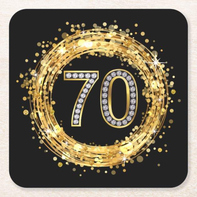 Diamond Number 70 Glitter Bling Confetti