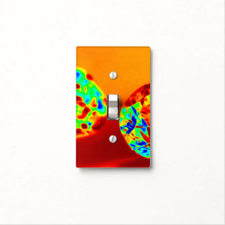 DIAMOND ON FIRE SINGLE TOGGLE SWITCH PLATE COVERS