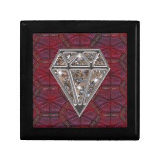 Diamond On Stained Glass Keepsake Box
