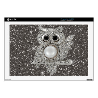"diamond owl decal for 17"" laptop"