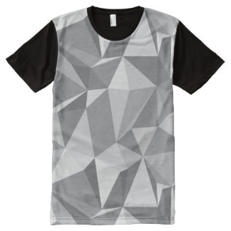 Diamond Pattern - Abstract Polygon All-Over Print T-shirt