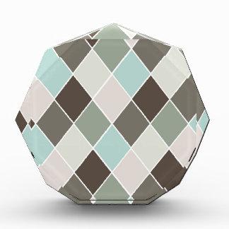 Diamond pattern acrylic award