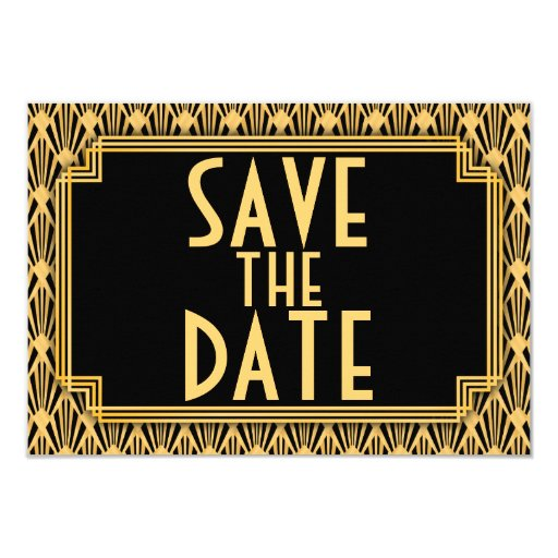 diamond pattern art deco wedding save the date card zazzle. Black Bedroom Furniture Sets. Home Design Ideas