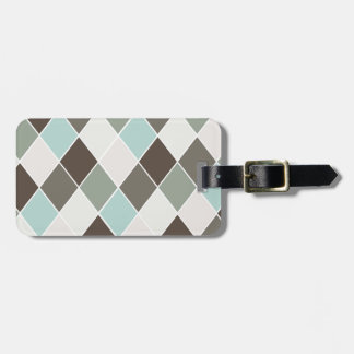 Diamond pattern bag tag