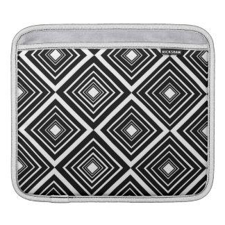 Diamond Pattern Black and White iPad Sleeves