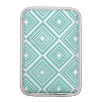 Diamond Pattern Blue and White iPad Mini Sleeve
