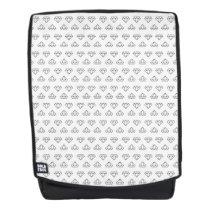 Diamond Pattern Boldface Backpack