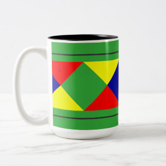 Diamond Pattern - Can Change Background Color Two-Tone Coffee Mug