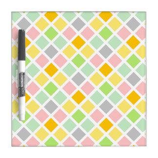 Diamond Pattern custom dry erase board