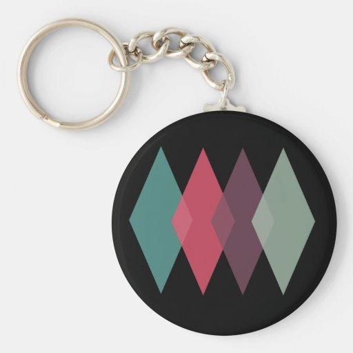 Diamond Pattern Custom Keyring Key Chains