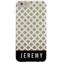 Diamond Pattern / Custom Name Barely There iPhone 6 Plus Case