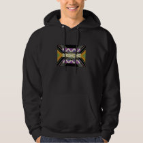 Diamond Pattern Energy Flow Hoodie
