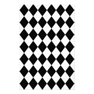 DIAMOND PATTERN in BLACK ~ Customized Stationery
