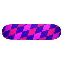 DIAMOND PATTERN in Blue & purples ~ Skateboard Deck