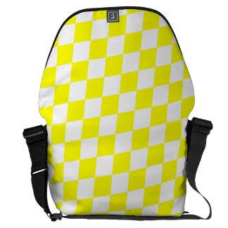 DIAMOND PATTERN in Bright Yellow ~ Messenger Bag