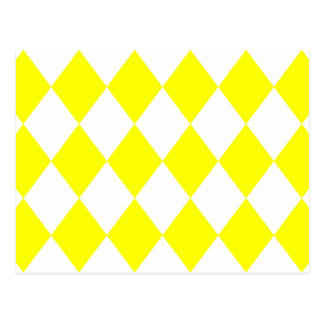 DIAMOND PATTERN in Bright Yellow ~ Postcard