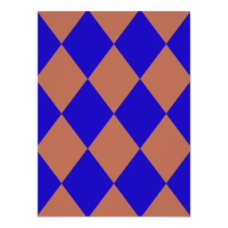 DIAMOND PATTERN in DEEP BLUE ~ 6.5x8.75 Paper Invitation Card