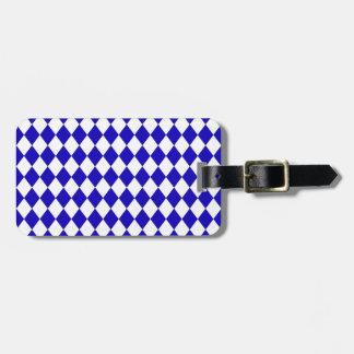 DIAMOND PATTERN in DEEP BLUE ~ Luggage Tags