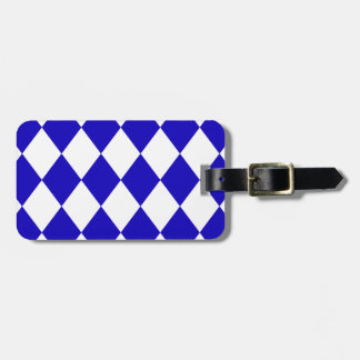 DIAMOND PATTERN in DEEP BLUE ~ Tags For Luggage