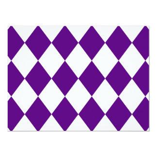 DIAMOND PATTERN in Deep Purple ~ 6.5x8.75 Paper Invitation Card