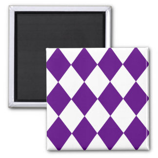DIAMOND PATTERN in Deep Purple Refrigerator Magnet