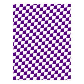 DIAMOND PATTERN in Deep Purple Postcard