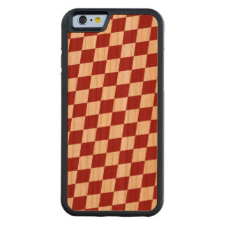 DIAMOND PATTERN in DEEP RED ~ Carved Cherry iPhone 6 Bumper Case