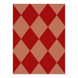 DIAMOND PATTERN in Deep Red ~ 6.5x8.75 Paper Invitation Card