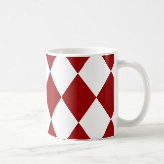 DIAMOND PATTERN in DEEP RED ~ Coffee Mug