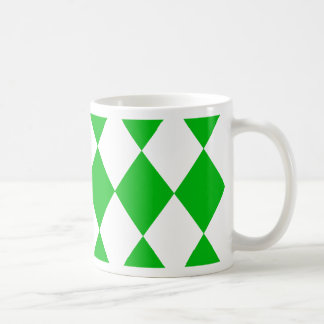 DIAMOND PATTERN in GREEN GREEN ~ Mug