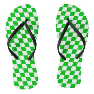 DIAMOND PATTERN in GREEN GREEN.png Flip Flops