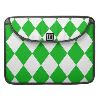 DIAMOND PATTERN in GREEN GREEN ~ Sleeve For MacBooks