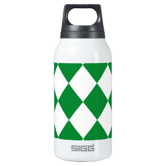 DIAMOND PATTERN in Green Insulated Water Bottle