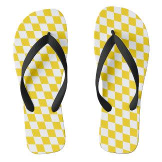 DIAMOND PATTERN in Yellow.png Flip Flops