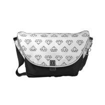 Diamond Pattern Messenger Bag
