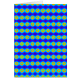 Diamond Pattern Mexican Blue Orange Art Gifts Greeting Card