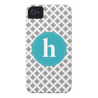 Diamond Pattern Monogram {pick your color} Case-Mate iPhone 4 Case