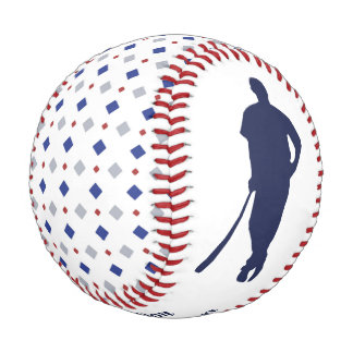 Diamond Pattern MVP Keepsake Personalized Baseball