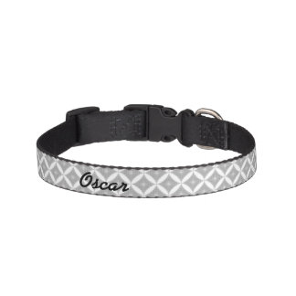 Diamond Pattern & Name Pet Collar