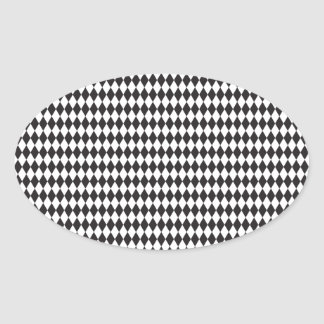 Diamond Pattern Oval Sticker