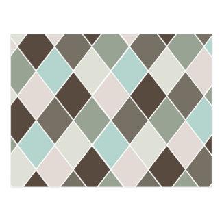 Diamond pattern postcard