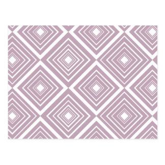 Diamond Pattern Purple and White Postcard