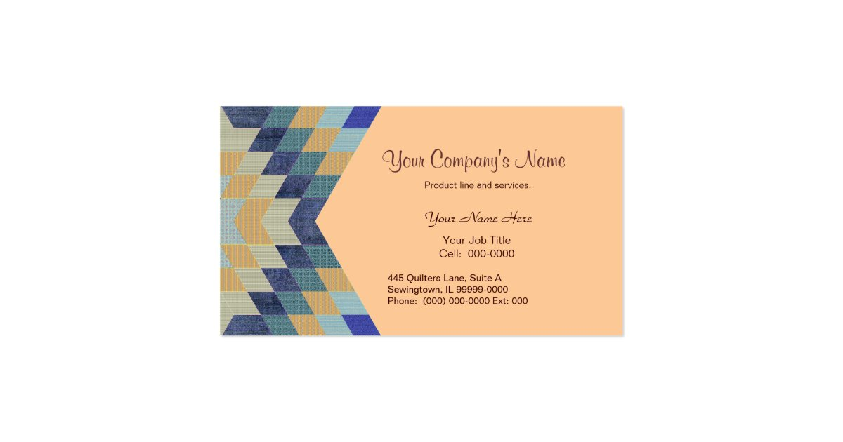 diamond pattern quilt business card zazzle. Black Bedroom Furniture Sets. Home Design Ideas
