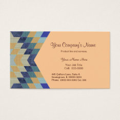 Diamond Pattern Quilt Business Card at Zazzle