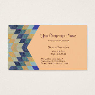 Diamond Pattern Quilt Business Card