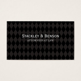 Diamond Pattern Retro Bold Elegant Design Business Card