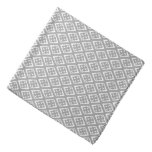 Diamond pattern - silver grey and white do-rags