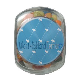 Diamond Pattern (Westies) Jelly Belly Candy Jar