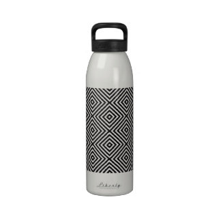 Diamond Pattern White Designer Water Bottle